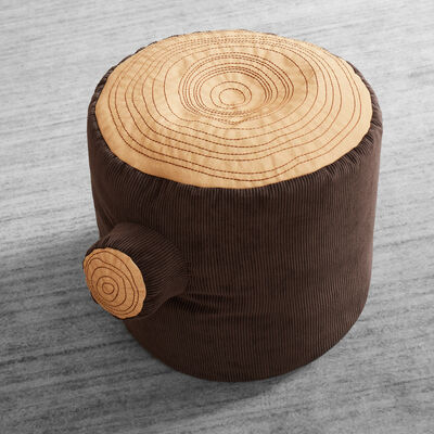 Child's Tree Stump Pouf