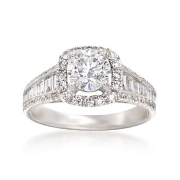 1.88 ct. t.w. Certified Diamond Ring in 18kt White Gold, , default