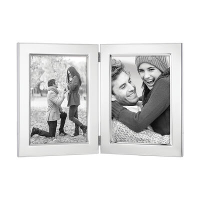 Reed & Barton Classic Double 5x7 Photo Frame in Silverplate
