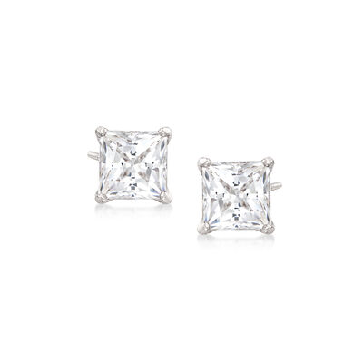 "Swarovski Crystal ""Attract"" Stud Earrings in Silvertone, , default"