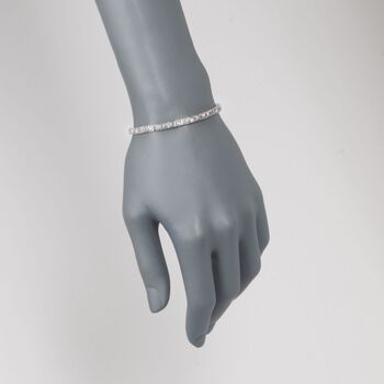 "C. 1950 Vintage 2.50 ct. t.w. Diamond Tennis Bracelet in Platinum. 6.25"", , default"