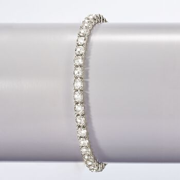 15.00 ct. t.w. CZ Tennis Bracelet in Sterling Silver, , default