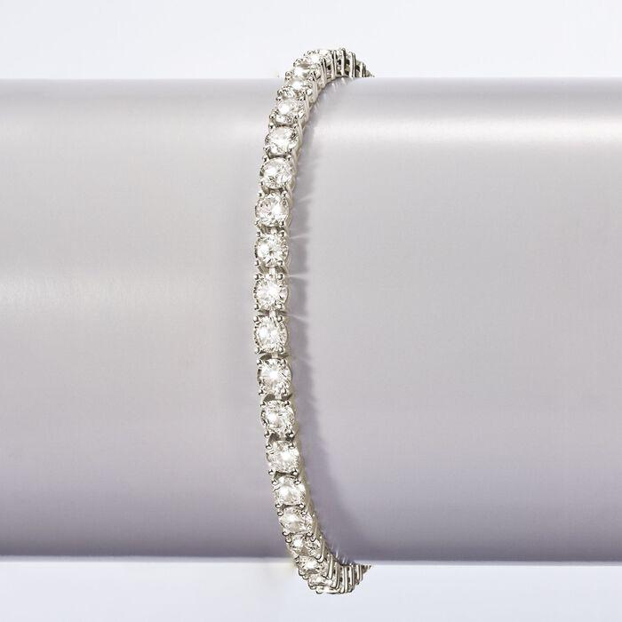 15.00 ct. t.w. CZ Tennis Bracelet in Sterling Silver