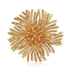 C. 1970 Vintage Tiffany Jewelry 18kt Yellow Gold Sunburst Pin, , default