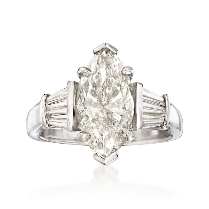 Majestic Collection 4.00 ct. t.w. Diamond Ring in 18kt White Gold, , default