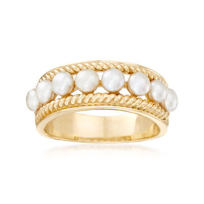 3.5-4mm Cultured Pearl Ring in 14kt Yellow Gold, , default