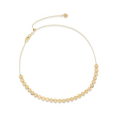 14kt Yellow Gold Multi-Disc Choker Necklace, , default