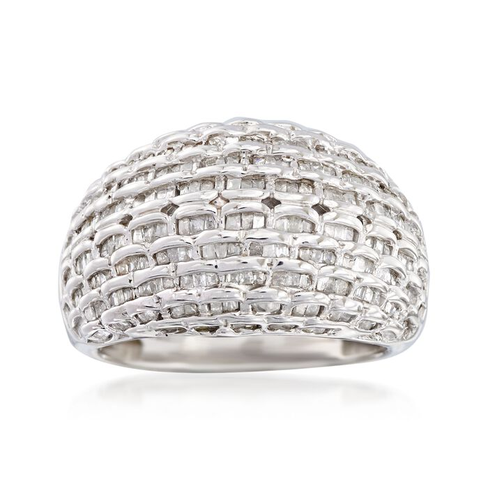 1.00 ct. t.w. Diamond Basketweave Dome Ring