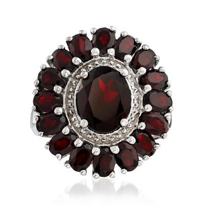 5.20 ct. t.w. Garnet Ring in Sterling Silver, , default