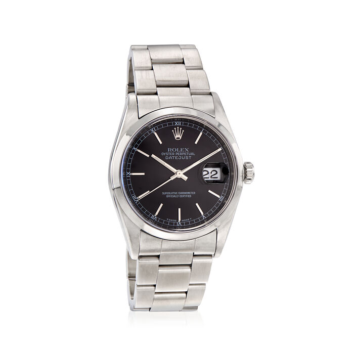 Pre-Owned Rolex Datejust Men's 36mm Automatic Stainless Steel Watch, , default