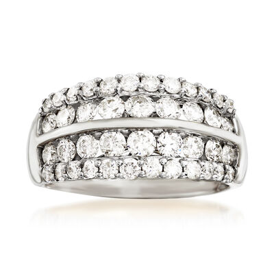 2.00 ct. t.w. Diamond Multi-Row Wedding Ring in 14kt White Gold, , default