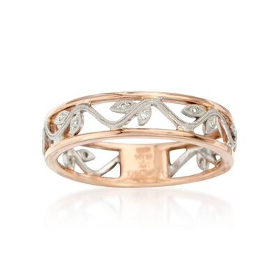 Simon G. Diamond Floral Ring in 18kt Two-Tone Gold, , default