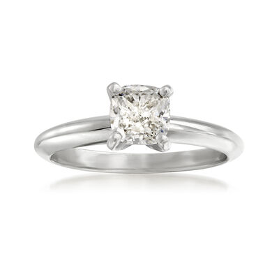 1.00 Carat Certified Diamond Solitaire Ring in 14kt White Gold, , default