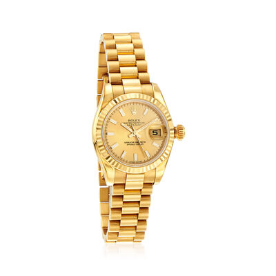 Pre-Owned Rolex Datejust Women's 26mm Automatic 18kt Yellow Gold Watch, , default