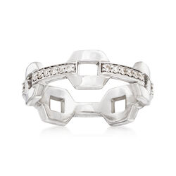 .24 ct. t.w. Diamond Link Eternity Band in 14kt White Gold, , default