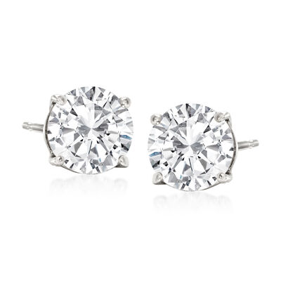 2.00 ct. t.w. Diamond Stud Earrings in 14kt White Gold