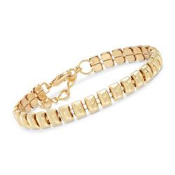 Gold-Plated Metal Small Bar Bracelet, , default