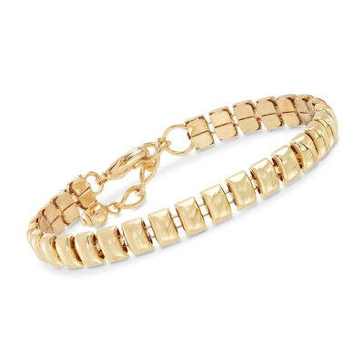 Gold-Plated Metal Small Bar Bracelet, , default