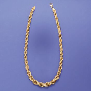 Italian 18kt Yellow Gold Twisted Link Necklace, , default