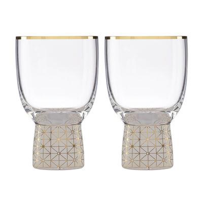 Trianna Frosted 2-Piece Wine Glassware Set, , default
