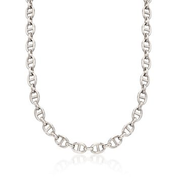 Italian Sterling Silver Marine-Link Necklace, , default