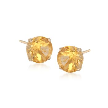 1.40 ct. t.w. Citrine Stud Earrings in 14kt Yellow Gold, , default
