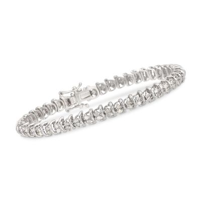 2.00 ct. t.w. Diamond Bar Bracelet in Sterling Silver, , default