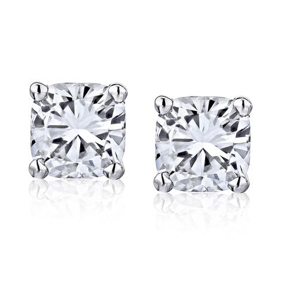 .48 ct. t.w. Diamond Stud Earrings in 14kt White Gold, , default