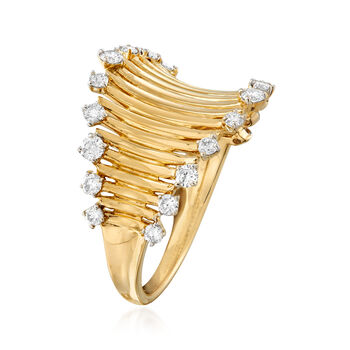 .51 ct. t.w. Diamond Curved Ring in 14kt Yellow Gold, , default