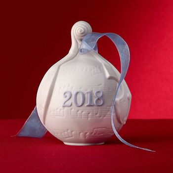 Lladro 2018 Annual Porcelain Ball Ornament, , default