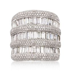 4.90 ct. t.w. Baguette and Round Diamond Ring in 14kt White Gold, , default