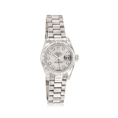 Pre-Owned Rolex Datejust Women's 26mm Automatic 18kt White Gold Watch