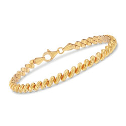 "Italian 18kt Yellow Gold Over Sterling Silver San Marco Bracelet. 7.5"", , default"