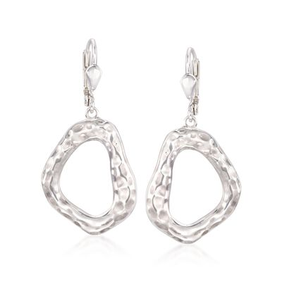 "Zina Sterling Silver ""Touchstone"" Geometric Drop Earrings, , default"