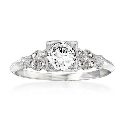 C. 1990 Vintage .58 ct. t.w. Diamond Ring in Platinum, , default