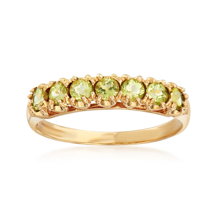 C. 1990 Vintage .50 ct. t.w. Peridot Ring in 10kt Yellow Gold . Size 7, , default