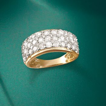 2.00 ct. t.w. Diamond Multi-Row Ring in 14kt Yellow Gold, , default