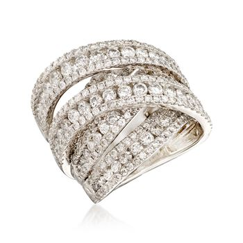 5.00 ct. t.w. Diamond Sash Ring in 14kt White Gold, , default