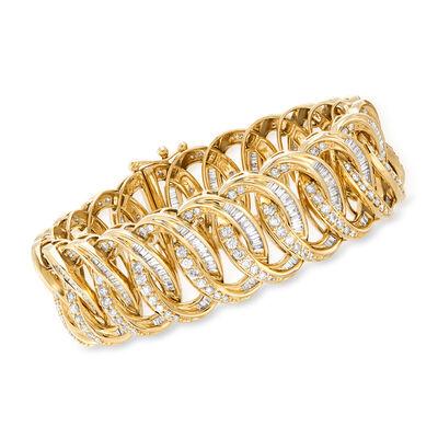 7.00 ct. t.w. Diamond-Link Bracelet in 14kt Yellow Gold