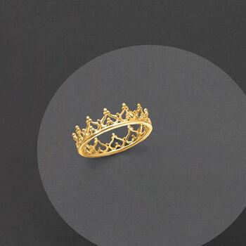 14kt Yellow Gold Royal Crown Ring