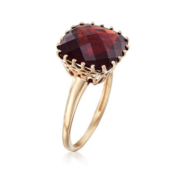 8.00 Carat Square Garnet Ring in 14kt Yellow Gold, , default