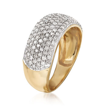 1.00 ct. t.w. Pave Diamond Ring in 14kt Yellow Gold, , default