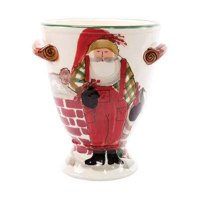 """Vietri """"Old St. Nick"""" Footed Urn from Italy"""