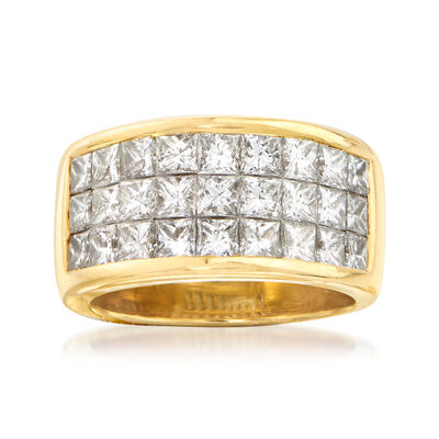 C. 1980 Vintage 3.50 ct. t.w. Diamond Ring in 18kt Yellow Gold, , default