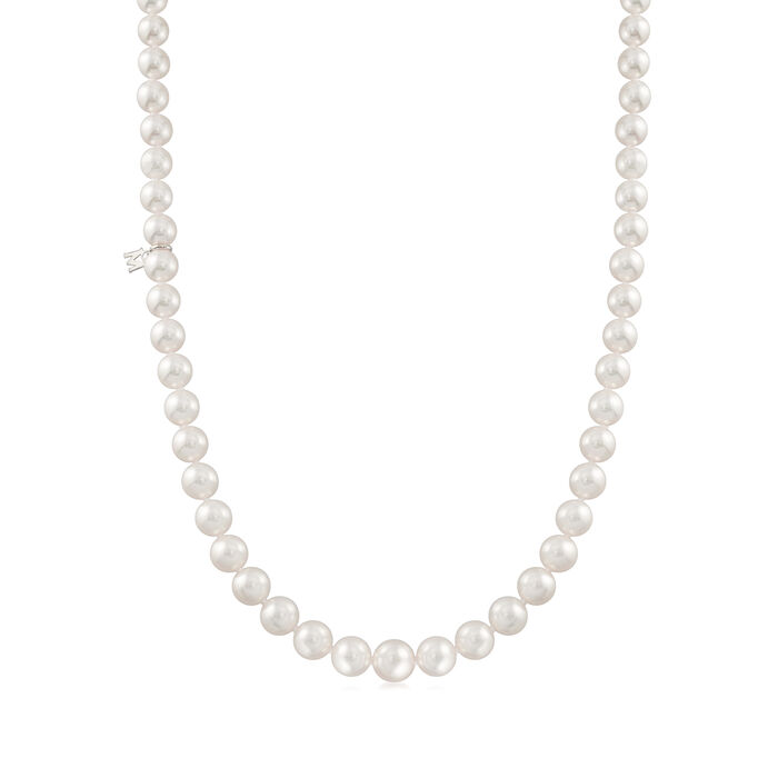 Mikimoto 9x7mm A1 Akoya Pearl Necklace with 18kt White Gold