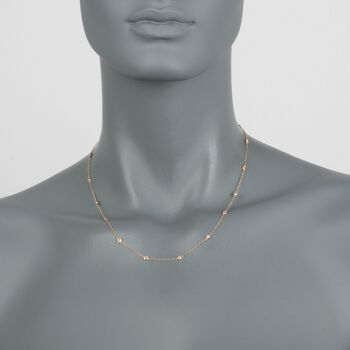 .75 ct. t.w. Diamond Station Necklace in 14kt Yellow Gold, , default