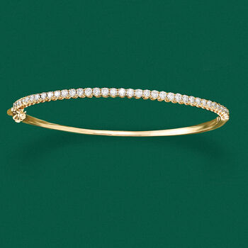 1.00 ct. t.w. Diamond Bangle Bracelet in 14kt Yellow Gold, , default