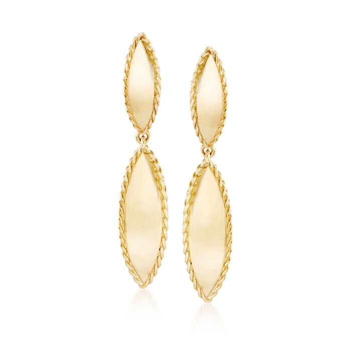 "Roberto Coin ""Gourmette"" 18kt Yellow Gold Drop Earrings"