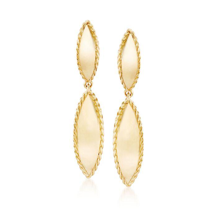 "Roberto Coin ""Gourmette"" 18kt Yellow Gold Drop Earrings , , default"