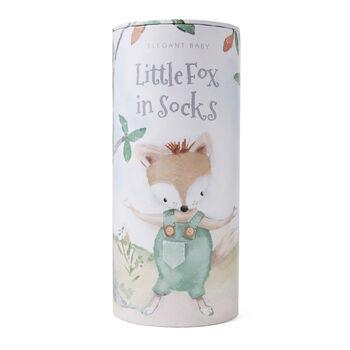 Elegant Baby Felix Fox Knit Toy and Book Set, , default